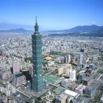 The impressive skyline of Taipei, Taiwan.